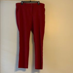 Pants - Deep red ankle pant